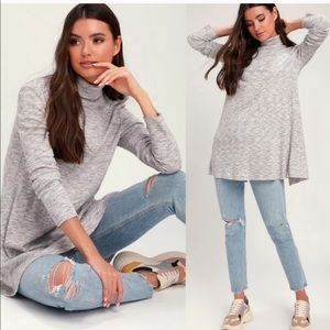 NWT Free People Stonecold Ribbed Tunic Top
